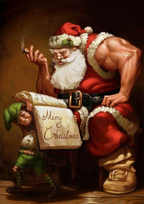 muscle Santa