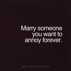 Marry someone