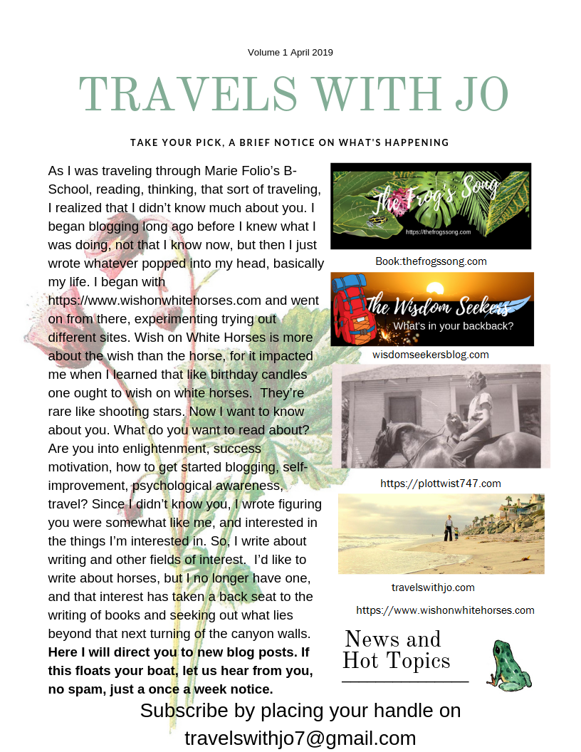 travels with jo newsletter